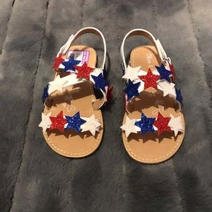 Fourth of July sandals!